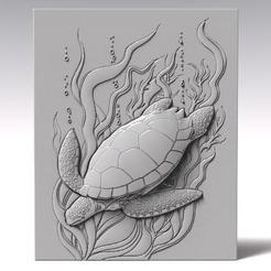 Turtle bas-relief.1.jpg Download STL file Turtle bas-relief CNC • 3D printing model, Majs84