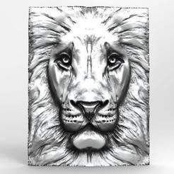 Leon BAs-relief 5.1.jpg Download STL file Lion 5 CNC • 3D printer template, Majs84