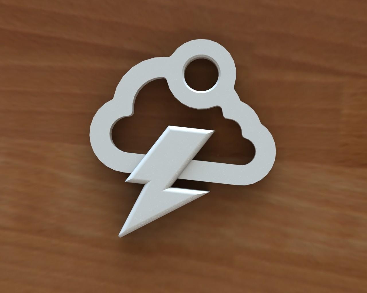 Storm cloud earring 1.JPG Download free STL file Storm cloud earring • 3D printer object, Majs84