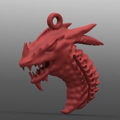 Archivos STL Dragon 5 keychain, Majs84