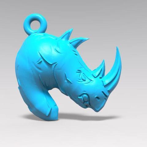 3D printer files Rhino keychain, Majs84