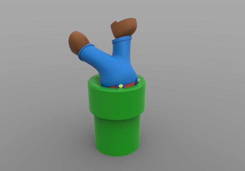 Mario 1.jpg Download STL file Mario  • 3D printer object, Majs84