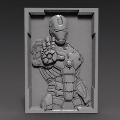 Iron Man bas-relief 2.1.jpg Download STL file Iron Man bas-relief cnc • 3D printing model, Majs84