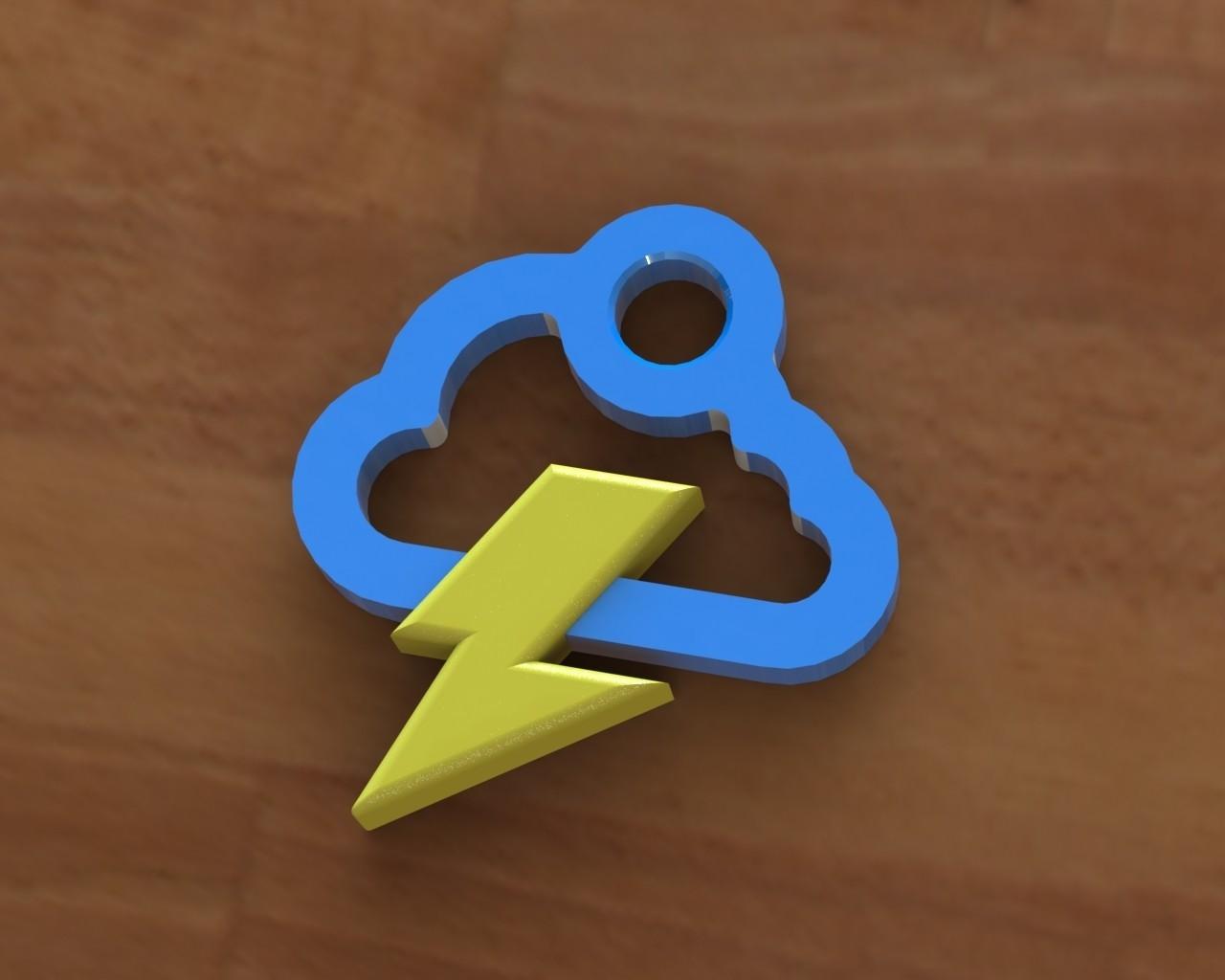 Storm cloud earring.JPG Download free STL file Storm cloud earring • 3D printer object, Majs84