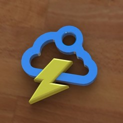 Download free 3D model Storm cloud earring, Majs84
