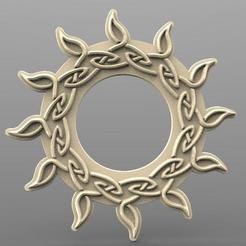 Celtic sun.1.jpg Download STL file Celtic sun CNC • Template to 3D print, Majs84