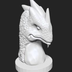 Dragon statue 6.jpg Download STL file Dragon statue 6 • 3D printable model, Majs84