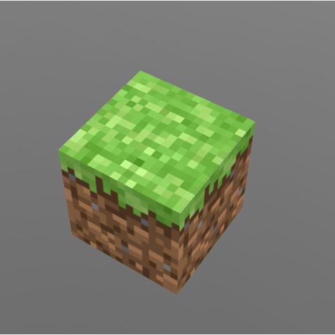 3d Printer Files Minecraft Grass Block Cults