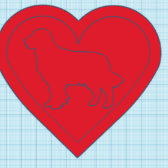 golden.PNG Download STL file Dog heart • 3D printer design, giannis_let