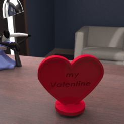 3D print model heart valentine love 3D print model, giannis_let