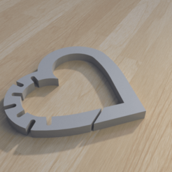 Download 3D printing files heart keychain , giannis_let