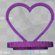 3D print files Heart stamp 3D print model, giannis_let