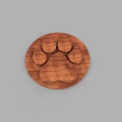 5.jpg Download STL file dog paw coaster simple • 3D printer model, giannis_let
