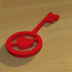 STL Heart key 3D print model, giannis_let