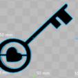 STL Heart key 3D print model, giannis_let