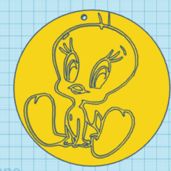 3 (2).PNG Download STL file tweety bird cartoon • 3D printable template, giannis_let