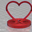 3D printer models heart with base 3D print, giannis_let