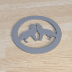 7.png Download STL file wolf howling printable coaster  • 3D printing model, giannis_let