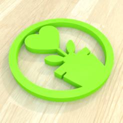 1.png Download STL file flower heart lovely coaster 3D print  • 3D print object, giannis_let