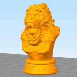 Free 3d print files MonkeyKing head, stronghero3d