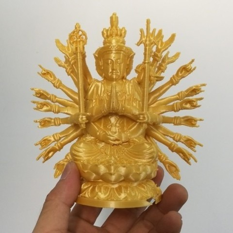 a772cf789678ff416a714a09439fdcc5_preview_featured.jpg Download free STL file Thousand-hand Bodhisattva • 3D printer template, stronghero3d