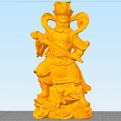 Free stl file 4 Guardians on South Gate of Heaven Palace, stronghero3d