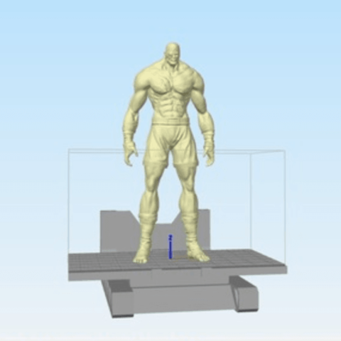 Free 3d model Street fighter Sagat, stronghero3d
