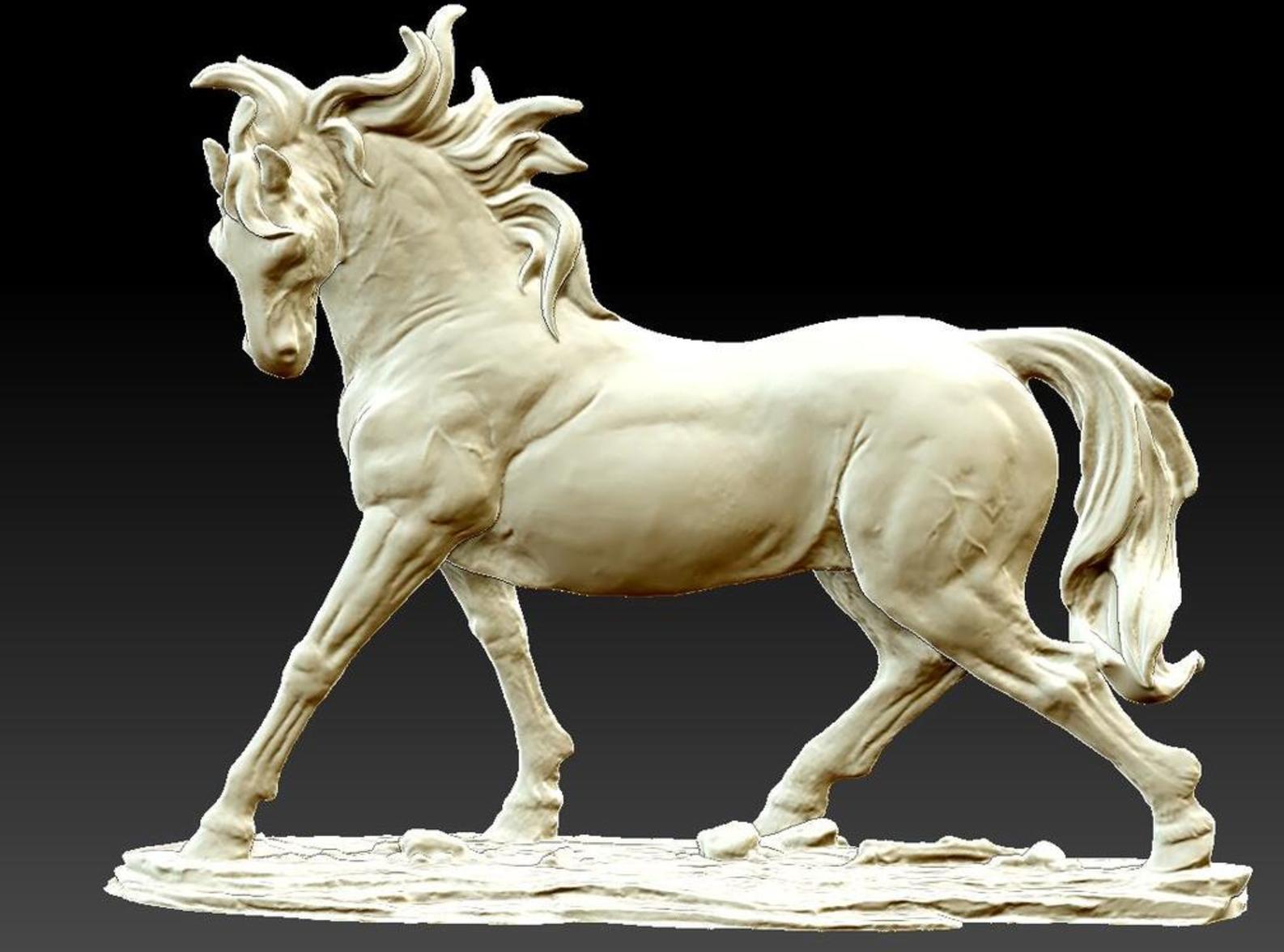 Horse 3D printing3.png Télécharger fichier STL gratuit Cheval • Modèle à imprimer en 3D, stronghero3d