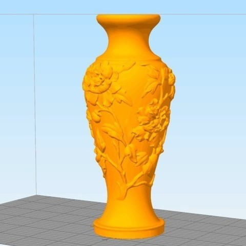 Free STL file Vase of Peony Pattern, stronghero3d