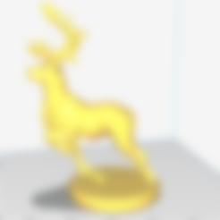 fb99b2.stl Download free STL file A lovely deer • 3D printing template, stronghero3d