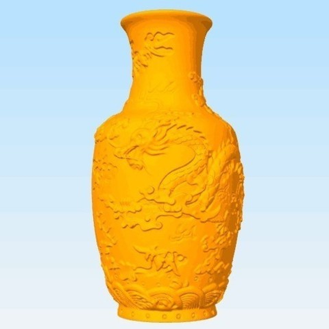 Free STL file Vase of Dragon Pattern, stronghero3d