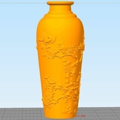 Download free 3D printer designs Vase of Joy on the plum blossom, stronghero3d
