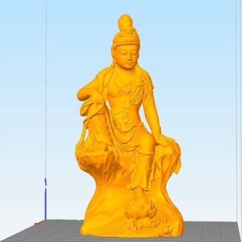 Free STL files Guanyin053, stronghero3d