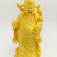 Download free 3D printer designs Chinese God of wealth, stronghero3d