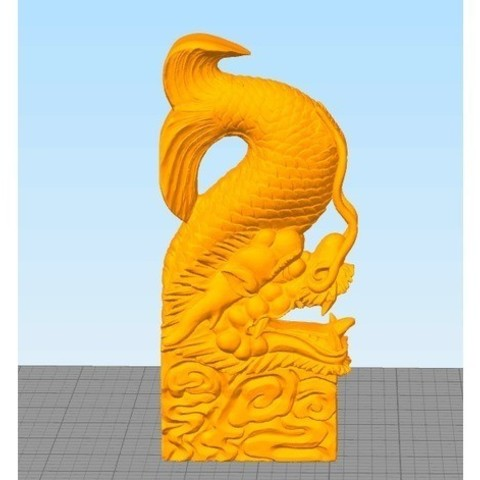 fichier 3d gratuit Poisson dragon, stronghero3d