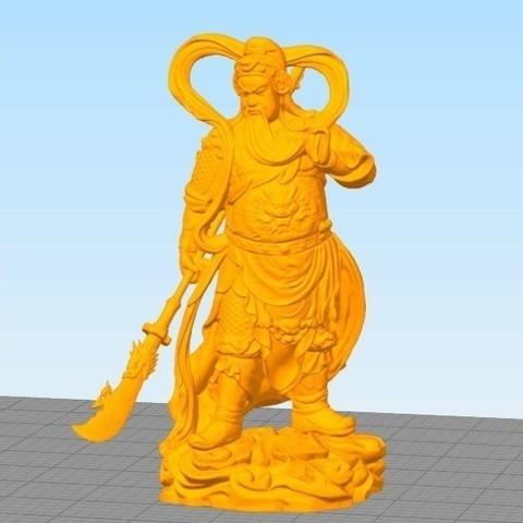 ab837e3e0543f4b51163b09f16294708_preview_featured.jpg Download free STL file Guanyu • 3D printable template, stronghero3d