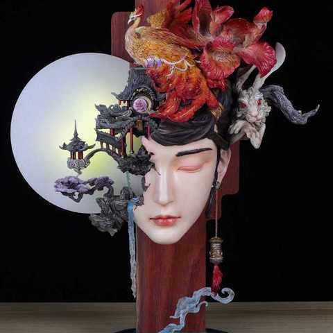 5c3311ea9e5d96b487e2907bd3cd8169_display_large.jpg Download free STL file Guanghan Palace  Change Fairy • 3D printable design, stronghero3d