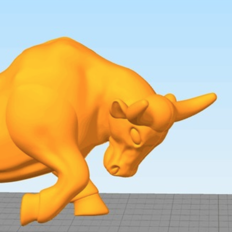 Free 3D printer designs bull, stronghero3d
