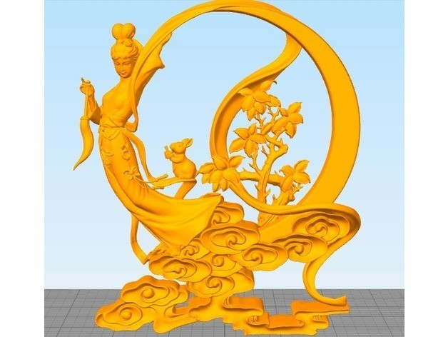 0ba91cedbd7031db7acad329b4d6124f_preview_featured.jpg Download free STL file Chang'e(the beauty god of moon) • Design to 3D print, stronghero3d