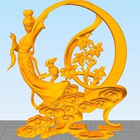Free STL Chang'e(the beauty god of moon), stronghero3d