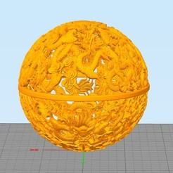 Snap4.jpg Download STL file nine dragon ball from stronghero3d • 3D printer design, stronghero3d