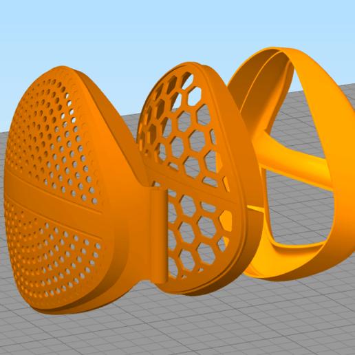 20200316133005.png Download free OBJ file Mask from stronghero3d • 3D printer design, stronghero3d