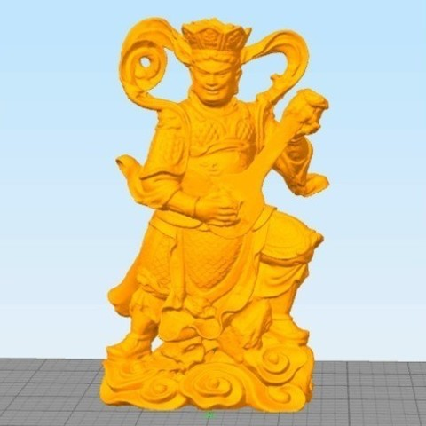ad506a7f6f0247c3f5a13fd2455d1835_preview_featured.jpg Download free STL file 4 Guardians on South Gate of Heaven Palace • 3D printable template, stronghero3d