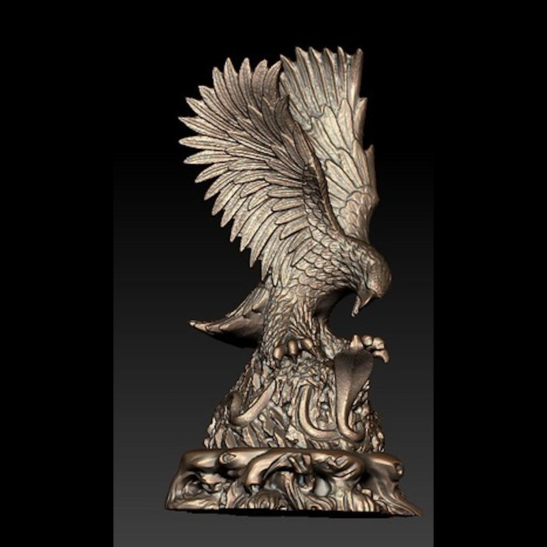 Eagle Cobra.png Télécharger fichier STL gratuit Eagle vs Cobra • Objet imprimable en 3D, stronghero3d