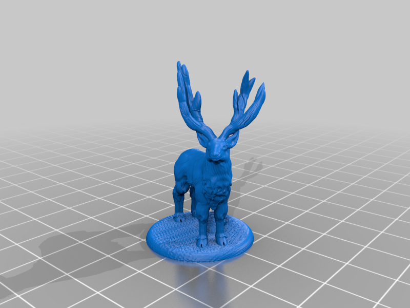 Elk_Deer.png Download free STL file Elk deer • 3D printing template, stronghero3d