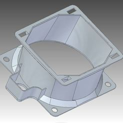 Download free STL Duct fan 8cm, motology
