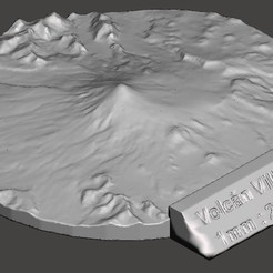 1.jpg Télécharger fichier STL Volcan Villarrica (Chili) • Design imprimable en 3D, JaimeGR
