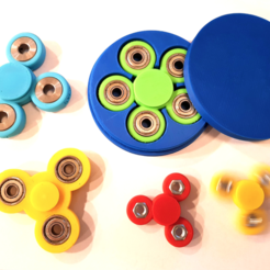 Free 3D printer designs Customizable fidget spinner with text and perfect storage box, eirikso
