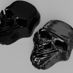 Download STL Skull damaged and heavy damaged, InfinityProps