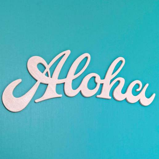 Download free 3D printing models Aloha Sign, edditive